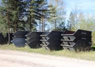 Kustamās mantas – trīsdesmit sešu būvgružu konteineru izsole